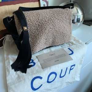 Clare V. Louise Bag Shearling convertible strap